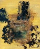 黄黑色的山石 油彩  画布 - 8738 - 中国油画雕塑 - 2012年春季大型艺术品拍卖会 -收藏网