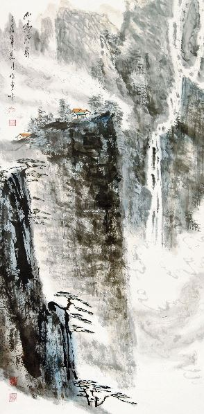 山高水长 立轴 - 33135 - 当代书画保真返收购专场 - 2012年秋季当代书画保真返收购专场拍卖会 -收藏网