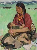 藏族女子 油彩  画布 - 4294 - 中国油画雕塑 - 2012年春季大型艺术品拍卖会 -收藏网