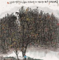 小邨秋色 镜片 设色纸本 - 曾宓 - 中国当代书画专场 - 2012春季艺术品拍卖 -收藏网