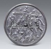 铜人物花卉镜 -  - 艺术品(一) - 2013年春季拍卖会第428期 -收藏网
