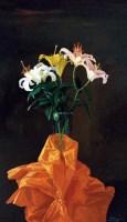 百合花    布面油画 - 曾传兴 - 中国写实油画 - 2012年秋季拍卖会 -中国收藏网