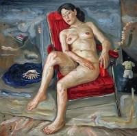 悬浮中的作品 布面油画 - 156692 - 华人西画 - 2012年秋季暨十周年庆大型艺术品拍卖会 -收藏网