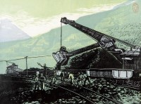 欢腾的矿山 套色木刻 - 127962 - 中国书画 西画 杂项 - 2013年迎新艺术品拍卖会 -收藏网