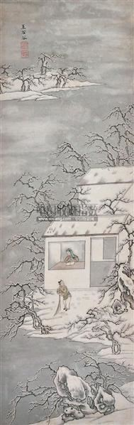 雪景 立轴 设色纸本 -  - 中国书画 - 2012夏季艺术品拍卖会 -收藏网