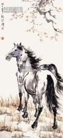 双骏图 立轴 纸本 - 116101 - 中国书画 - 2013年首届艺术品拍卖会 -收藏网