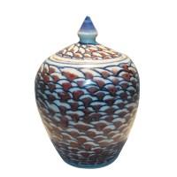 青花釉里红盖罐 -  - 瓷器专场 - 光大国际•艺术品拍卖会  -收藏网