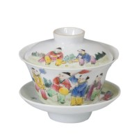 粉彩婴戏纹茶杯 -  - 瓷器专场 - 光大国际•艺术品拍卖会  -中国收藏网