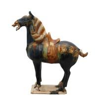 唐三彩立马像 -  - 瓷器专场 - 光大国际•艺术品拍卖会  -中国收藏网