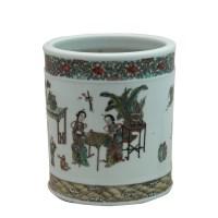 五彩笔筒 -  - 瓷器专场 - 光大国际•艺术品拍卖会  -中国收藏网