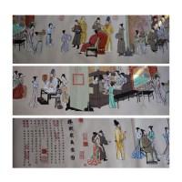 韩熙载夜宴图十字绣 -  - 字画专场 - 光大国际•艺术品拍卖会  -中国收藏网