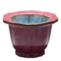 菱形钧瓷花盆 -  - 瓷器专场 - 光大国际•艺术品拍卖会  -收藏网
