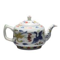 斗彩凤纹茶壶 -  - 瓷器专场 - 光大国际•艺术品拍卖会  -收藏网