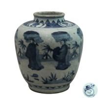 青花人物将军罐 -  - 瓷器专场 - 光大国际•艺术品拍卖会  -中国收藏网