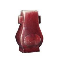 红釉贯耳尊 -  - 瓷器专场 - 光大国际•艺术品拍卖会  -中国收藏网
