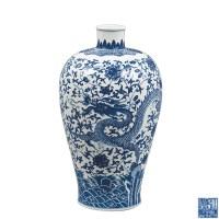 青花缠枝龙凤纹梅瓶 -  - 瓷器专场 - 光大国际•艺术品拍卖会  -收藏网