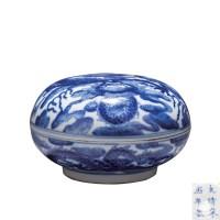 青花云龙纹印泥盒 -  - 瓷器专场 - 光大国际•艺术品拍卖会  -收藏网
