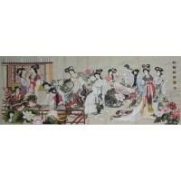 红楼群芳图十字绣 -  - 字画专场 - 光大国际•艺术品拍卖会  -中国收藏网