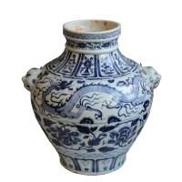 青花牡丹缠枝纹龙纹双耳罐 -  - 瓷器专场 - 光大国际•艺术品拍卖会  -中国收藏网