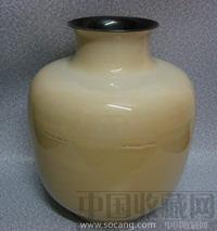米色釉苹果樽-中国收藏网