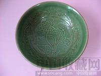 宋 青釉一把莲鱼纹碗-中国收藏网