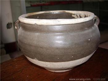 茶叶末釉双耳罐-收藏网
