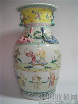 粉彩十八罗汉 -中国收藏网