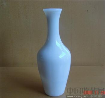 料器柳叶瓶酒瓶-收藏网