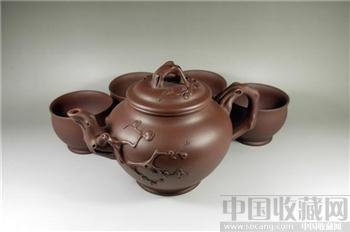 一厂80年代大梅花茶具-收藏网