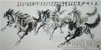 陈天祥·四尺八骏图02-收藏网