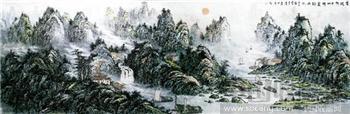 八尺《锦绣山河万里春》-中国收藏网