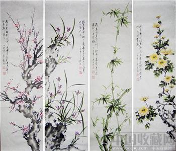 四君子-梅兰竹菊03-收藏网