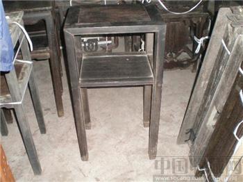 铁力木灯挂椅几-收藏网