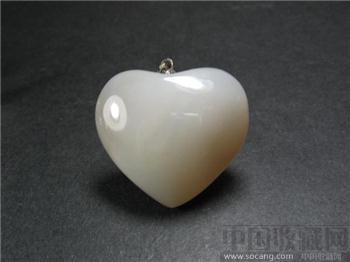 尚古斋:心形 玛瑙 项链坠-收藏网