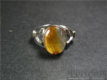 尚古斋:天然黄水晶 银指环-收藏网