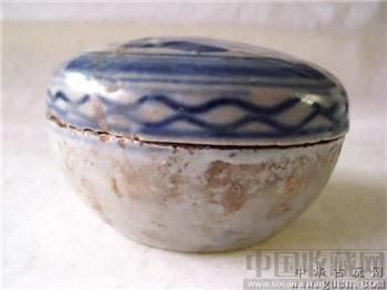 民国青花盖罐 -收藏网