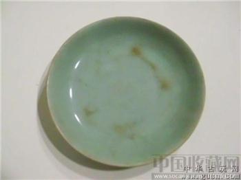 清豆青盘 -收藏网