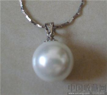 北海白色海水珍珠项链-收藏网