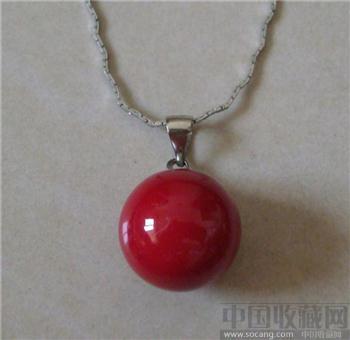 北海深红色海水珍珠项链-收藏网