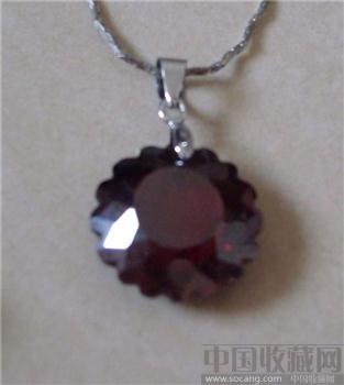 深红色水晶项链-收藏网