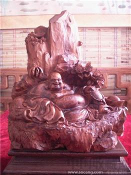 檀香木雕山子-收藏网