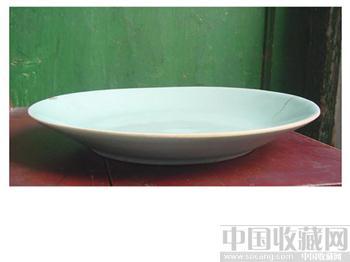 豆青釉大盘-收藏网