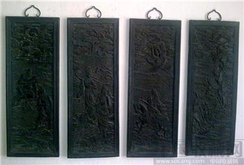 紫檀雕八仙人物挂屏-收藏网