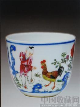 粉彩御题诗鸡缸杯-收藏网