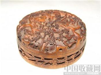 清黄杨木雕印盒-收藏网