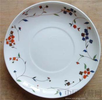金兰花骨质瓷盘-收藏网