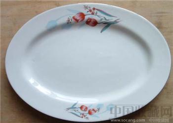 郁金香骨质瓷鱼盘-收藏网