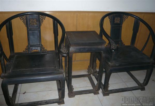 清代 小叶紫檀 圈椅王 脱泥大圈椅-玺统明清红木古典