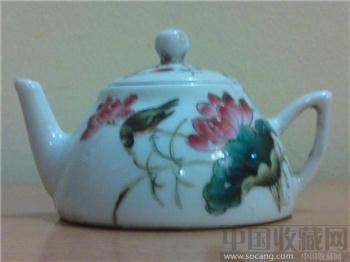 民国粉彩花鸟茶壶[经典绝版珍藏] -收藏网