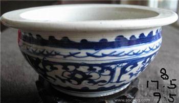鑾龙纹青花炉子-收藏网